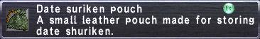 Date Shuriken Pouch