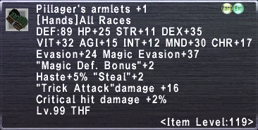 Pillager's Armlets +1