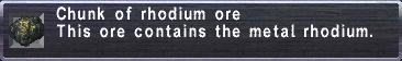 Rhodium Ore