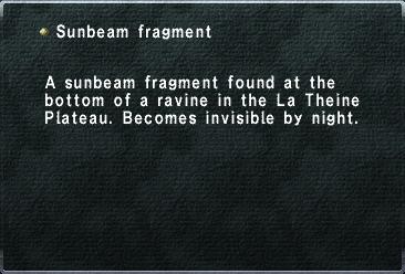 Sunbeam Fragment
