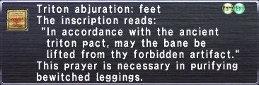 Triton abjuration feet