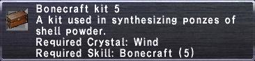Bonecraft Kit 5
