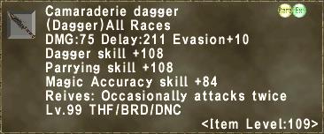 Camaraderie dagger