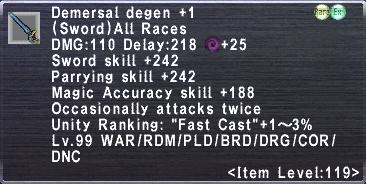 Demersal Degen +1
