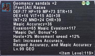 Geomancy Sandals +2