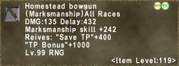 Homestead bowgun