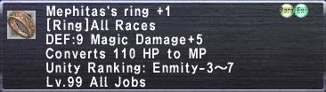 Mephitas's Ring +1