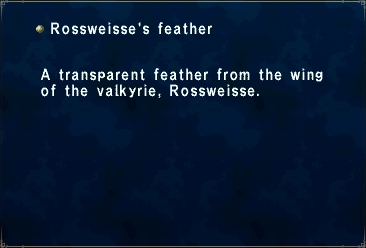 Rossweisse's Feather