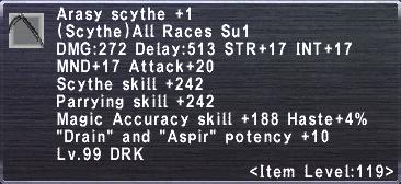 Arasy Scythe Plus 1