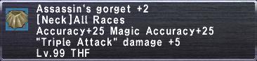 Assassin's Gorget +2