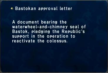 Bastokan approval letter