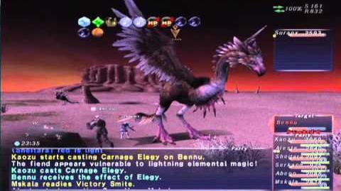 FFXI NM Saga 360 Bennu NM Full Battle