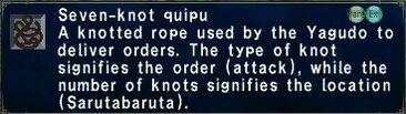 Seven knot quipu