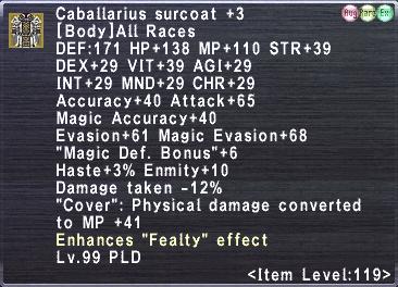 Caballarius surcoat +3