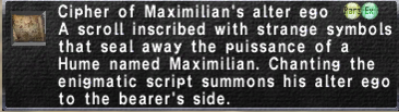 Cipher-Maximilian