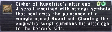 Cipher Kupofried