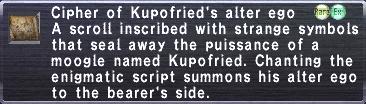 Cipher Kupofried