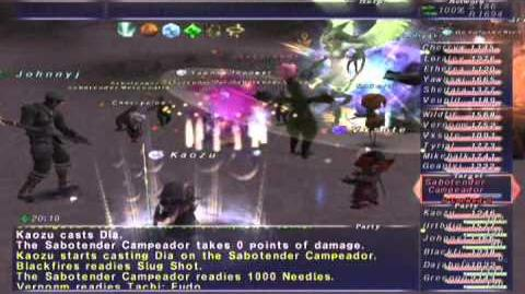 FFXI NM Saga 372 Sabotender Campeador (Voidwatch NM) Full Battle