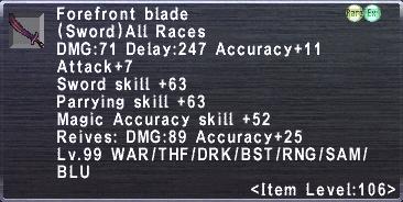 Forefront Blade