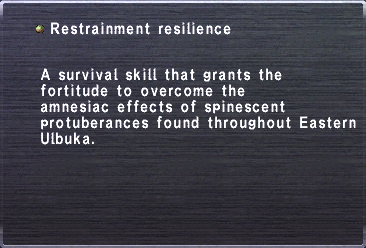 Restrainment resilience