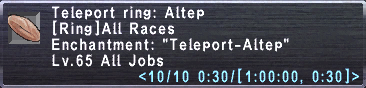Teleport ring altep