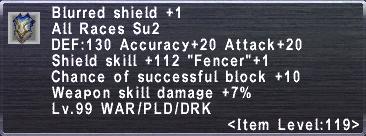 Blurred Shield +1