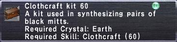 Clothcraft Kit 60