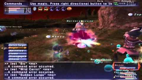 FFXI NM Saga 330 Nonno NM Full Battle