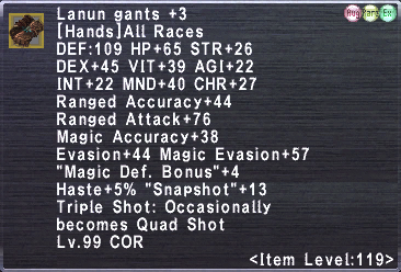 Lanun gants +3