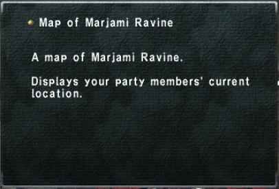 Map of Marjami Ravine