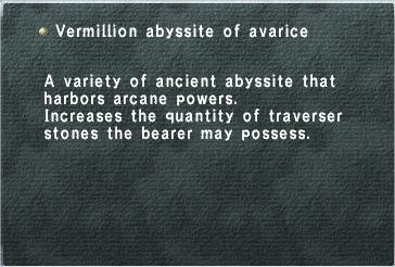 Vermillion Abyssite of Avarice