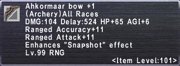 Ahkormaar Bow +1