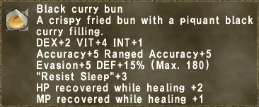 Black curry bun