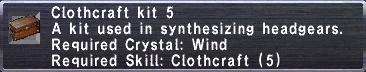 Clothcraft Kit 5