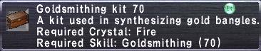 Goldsmithing Kit 70