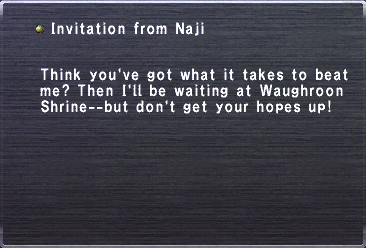 Invitation from Naji