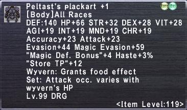 Peltast's Plackart +1