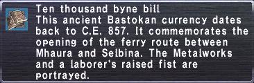 Ten Thousand Byne Bill