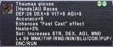 Thaumas Gloves description