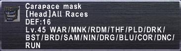 Carapace Mask