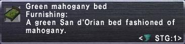 Green Mahogany Bed