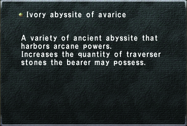 Ivory Abyssite of Avarice