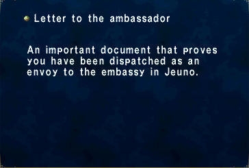 Letter To The Ambassador