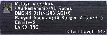 Malayo Crossbow