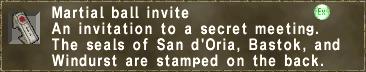 Martial ball invite