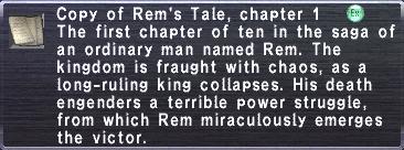 Rem's Tale, chapter 1