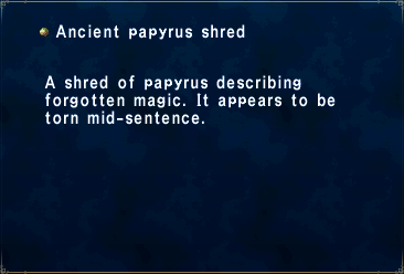 Ancient papyrus shred