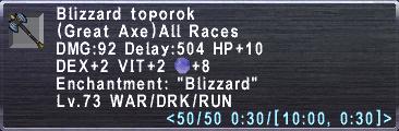 Blizzard Toporok