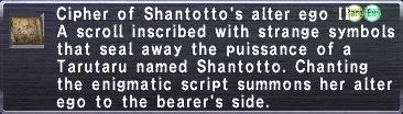 Cipher-Shantotto II