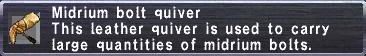 Midrium Bolt Quiver